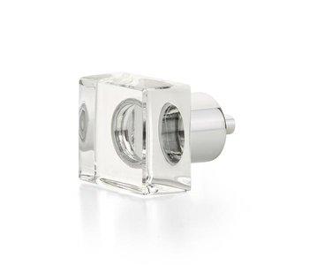 "City Lights Square Glass 1 1/4"" Knob"