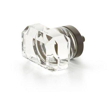 "City Lights Rectangular Glass 1 3/4"" Knob"