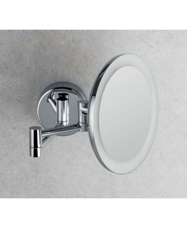 Wall Magnifying Mirror With LED Built-In Light