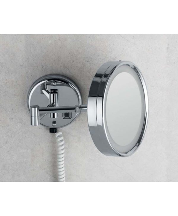 Wall Magnifying Mirror With LED Built-In Light (Class II)