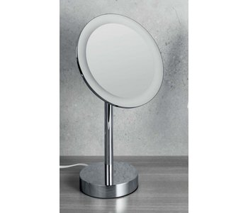 Standing Magnifying Mirror With LED Built-In Light