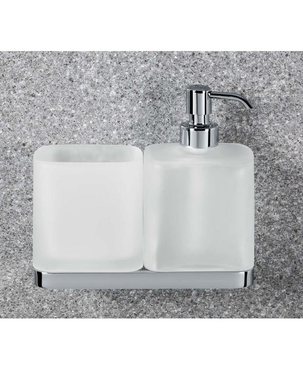 Time Glass Holder And Soap Dispenser