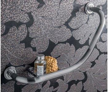 Hermitage Bath Grab-Bar With Reversible Soap Shelf