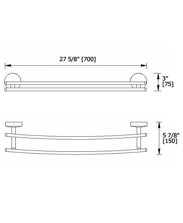 Classics-R Extended Double Towel Bar