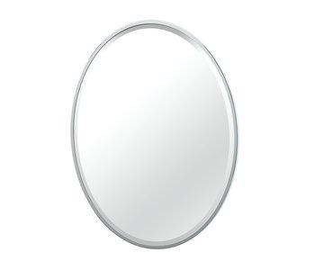 Flush Mount Framed Oval Mirror