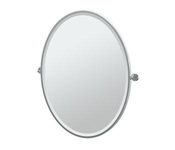 Latitude II Framed Oval Mirror