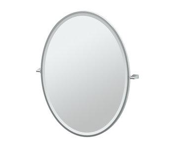 Bleu Framed Oval Mirror