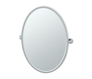 Café Framed Oval Mirror