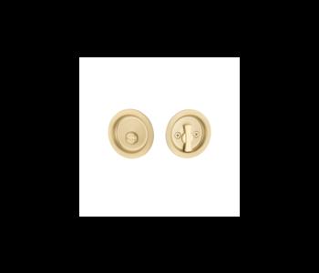 Tubular Pocket Door Lock, Round