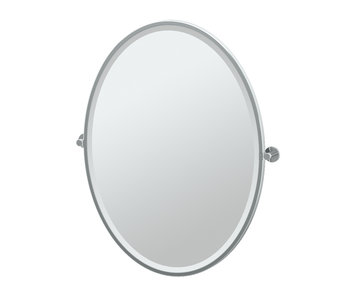 Channel Framed Oval Mirror