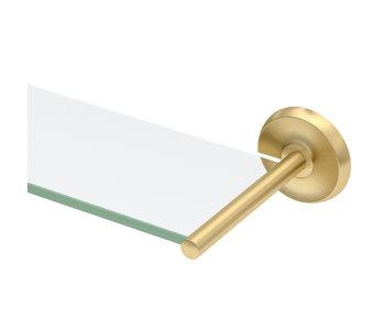 Designer II Glass Shelf- Satin Brass