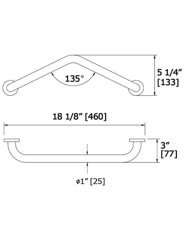 Angled Grab Bar 1013