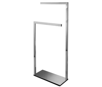 Square Floor Stand Double Towel Bar