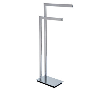 Square Floor Stand Double Towel Bar 9000