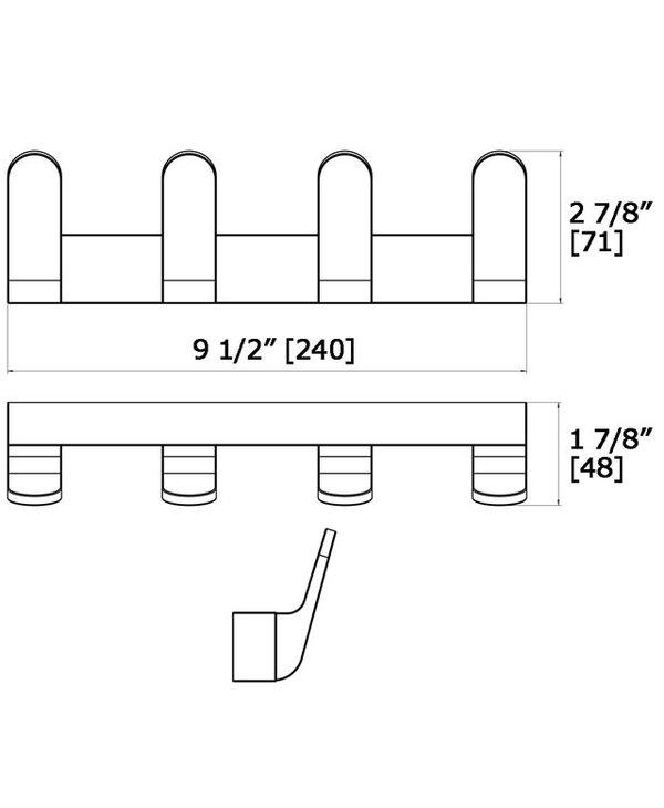 Quad Hook Strip 7116-4