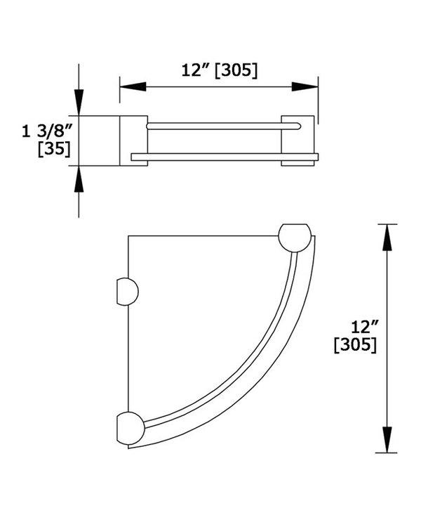 Single Corner Shelf 5611T