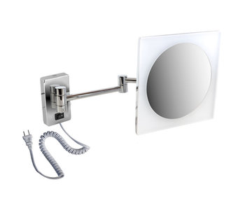 LED Plug-in Wall Mount Swing Mirror with acrylic face 2045