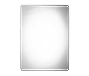Rounded Rectangular Beveled Mirror M00169