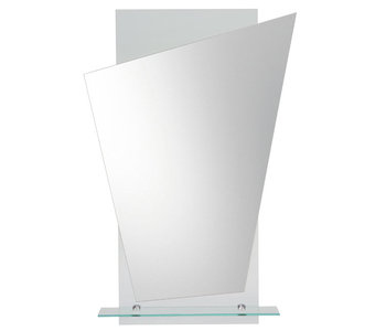 Angled Mirror on Clear Rectangle Glass M00198