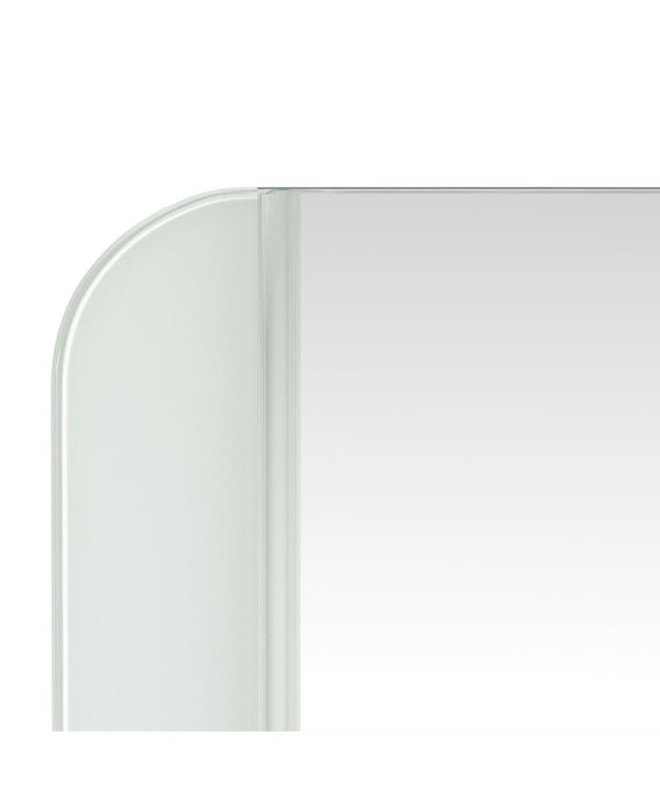 Mirror with Parallel Frosted Side Trim M00561