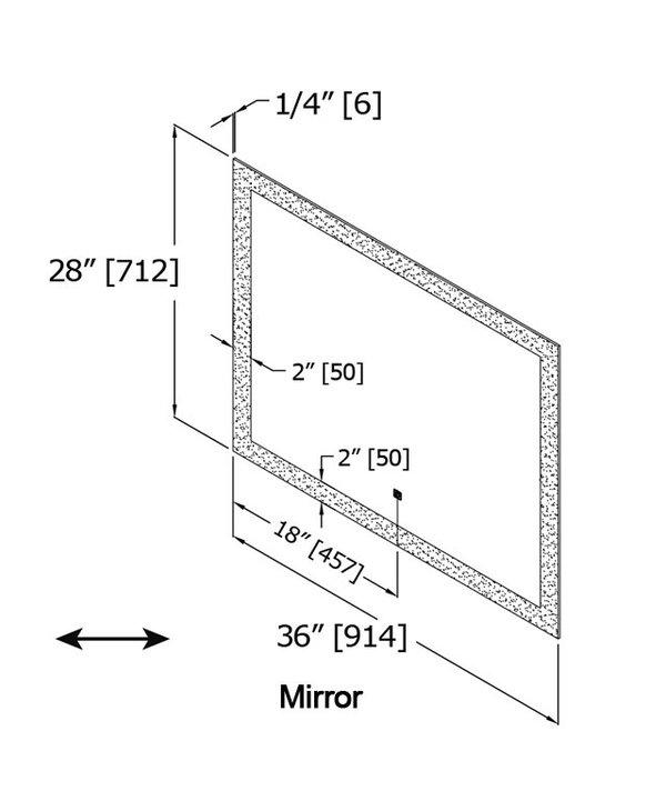 Halo Perimeter LED Mirror M03628LA