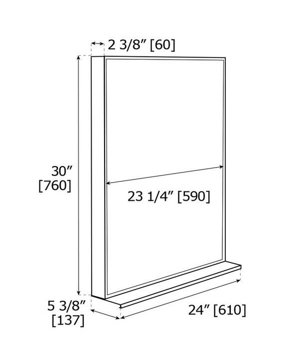 Qurios Component Mirror with Shelf Q20M24