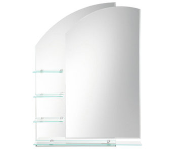 Double Layered Mirror with Shelves H00164