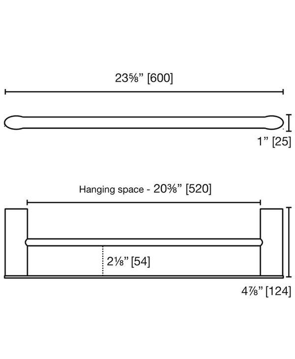 Farrow Double Towel Bar F1424D
