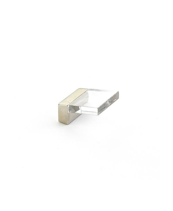 Positano Square Clear Acrylic Angled Knob