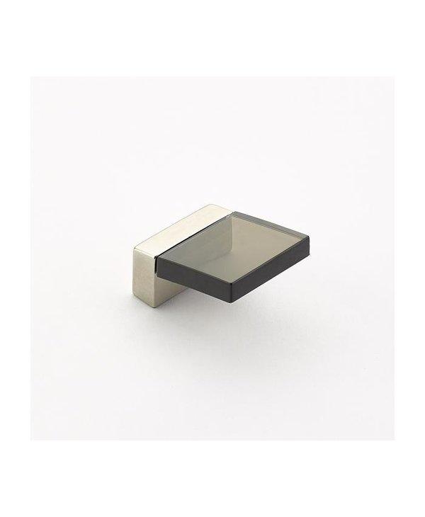 Positano Square Smoked Acrylic Angled Knob