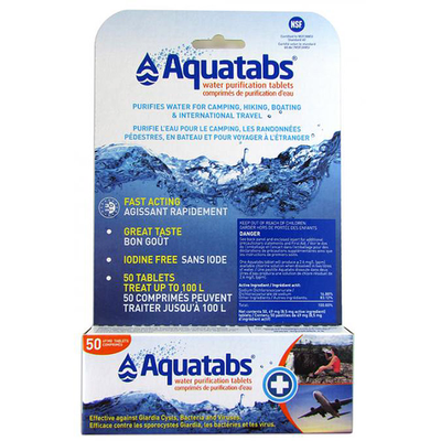 Aquatab Aquatab Tablets, Pack of 50, 1L Tabs
