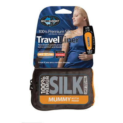 Sea to Summit Sea To Summit Premium Silk Mummy Travel Liner with Hood