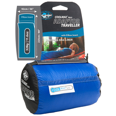 Sea to Summit Sea To Summit Coolmax Adaptor Traveller Liner with Pillow Insert