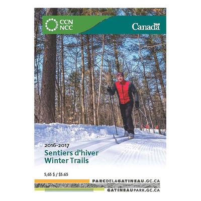 National Capital Commision NCC Gatineau Park Winter Trail Map
