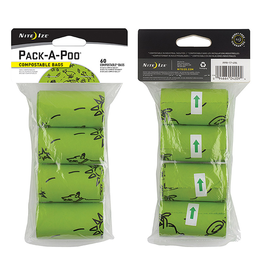 Nite Ize Pack a Poo Bag Biodegradable Refill Bags 4pk
