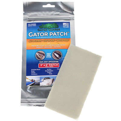 """Gator Guards Gator Patch UV Cure Fiberglass Reinforced Repair Patch 3""""x6"""""""