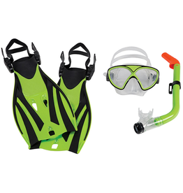 Leader Leader Montego Bay Mask Snorkel Fin Super Kit JR