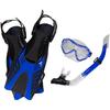 Leader Leader Tropic Traveler Mask Snorkel Fin Super Kit