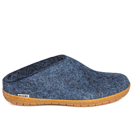 Glerup Glerup Felt Slipper with Rubber Sole