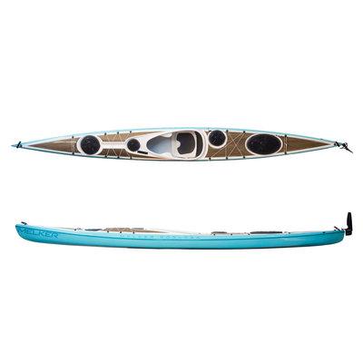 Melker Kayaks Melker Rodloga Flax Composite Kayak w/ Rudder/Skeg