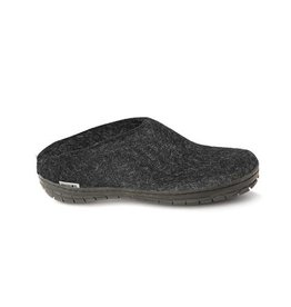Glerup Glerup Felt Slipper with Rubber Sole Black