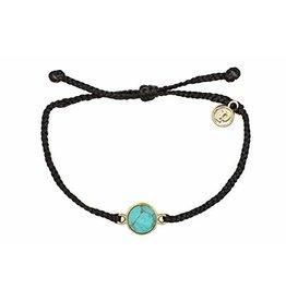 Pura Vida Pura Vida Riveria Stone Bezel Gold Bracelet