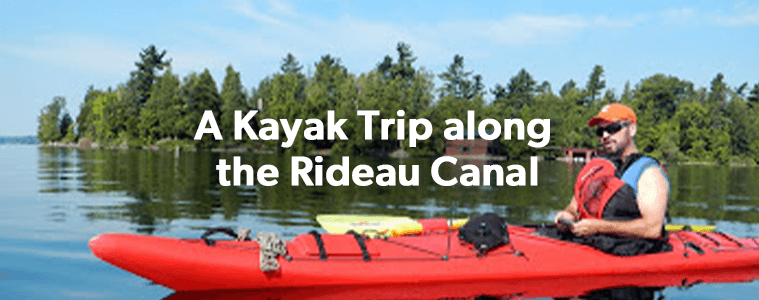 A Kayak trip along the Rideau Canal