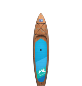 Blu Wave Board Co Blu Wave The Armada 11.6 Touring SUP, Wood Finish