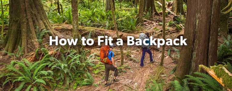 How To Fit a Backpack