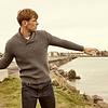 Irelands Eye Irelands Eye Fanore Textured Shawl Collar Sweater Men's