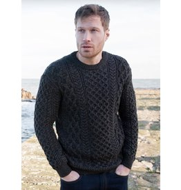 Irelands Eye Irelands Eye Blasket Honeycomb Stitch Aran Sweater Men's