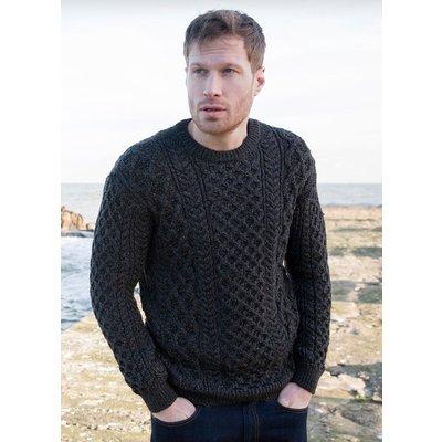 Irelands Eye Irelands Eye Blasket Honeycomb Stitch Aran Sweater Men's