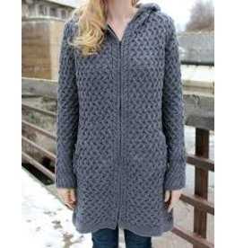 Irelands Eye Irelands Eye Coolquay Trellis Hooded Coat Women's