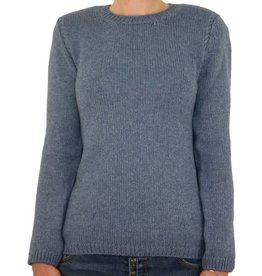 Irelands Eye Irelands Eye Lahinch Jersey Cable Round Neck Sweater Women's